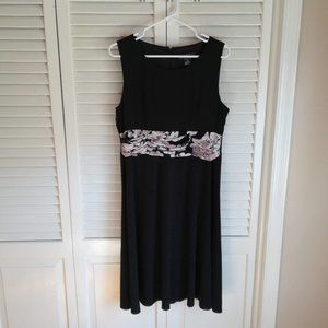 Jessica Howard LBD with Patterned Waistband